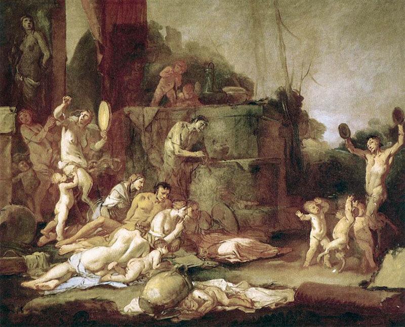Джулио Карпиони, 1660-65 гг.Мадрид, музей Тиссен-Борнемиса, Вакханалия