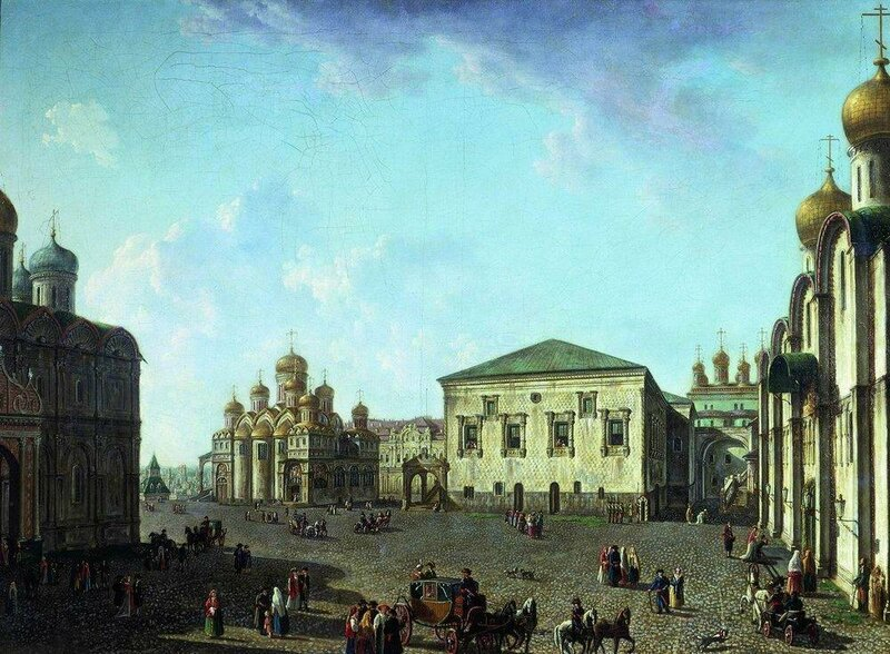 Площадь перед Успенским собором в Московском Кремле