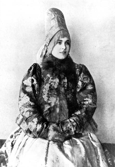 Женщина в кокошнике Костромская губерния