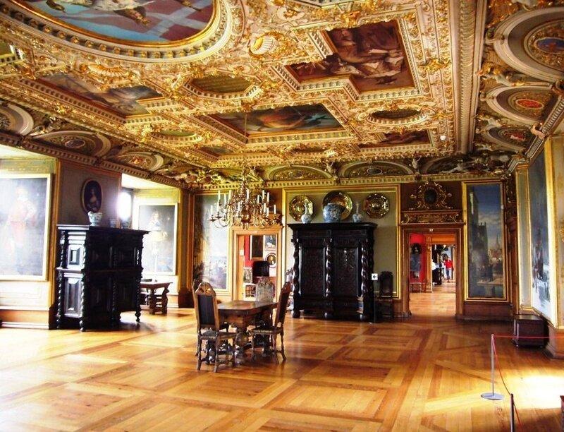 Один из красивейших залов королевского замка Frederiksborg - Аудиенц-зал.