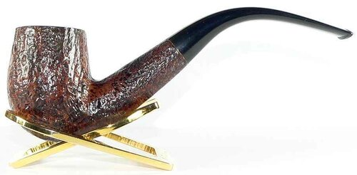 Parker Super Briarbark bent billiard 45 pipe
