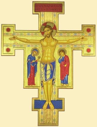 КРЕСТ САН-ДАМИАНО Современная болгарская икона