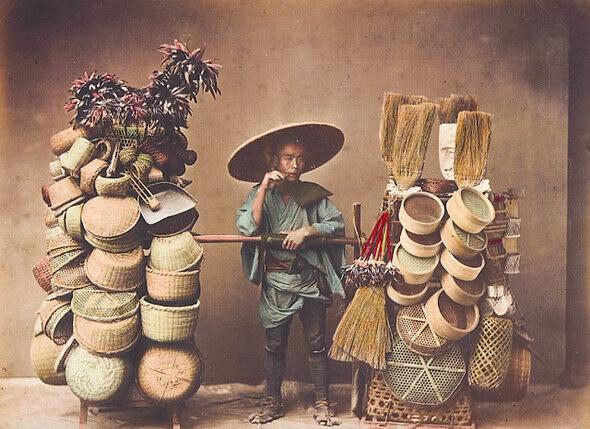 Торговец изделиями из бамбука