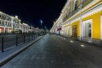 Любинский проспект в ночной подсветке (нечётная сторона)