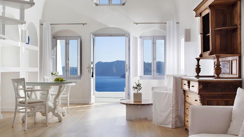 греческий белый дизайн интерьера
