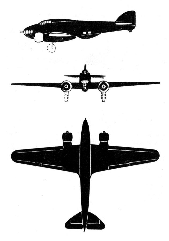 Силуэты итальянских самолетов (1939) 017