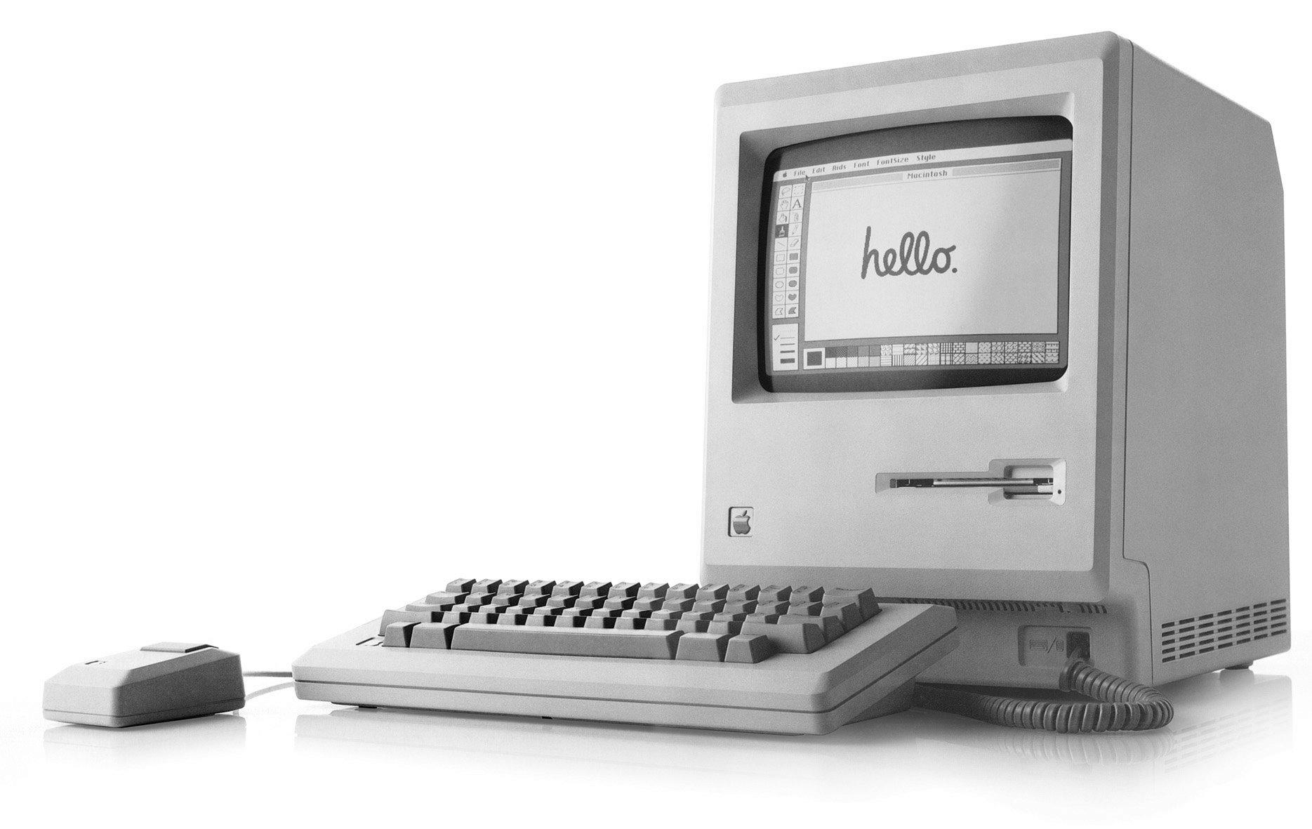 4. Apple Mac. Проект был начат в январе 1984 года Стивом Джобсом. Сегодня компьютеру Apple уже 32 го