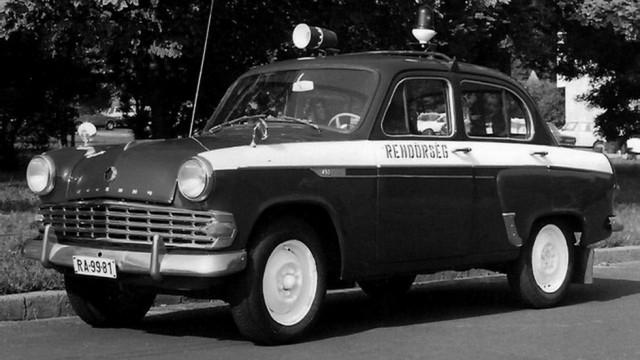 Советские Москвичи состояли на службе в венгерской полиции Оснащение остальных служебных машин ОРУД/