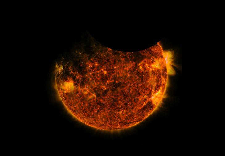 1. Так выглядит заход солнца с Международной космической станции. (Фото Jeff Williams | NASA):