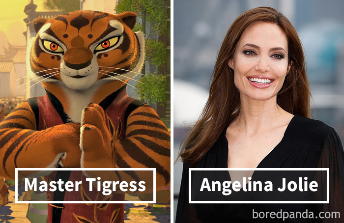 Тигрица («Кунг-фу панда») — Анджелина Джоли.