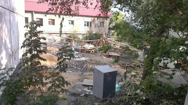 ВЛенинском районе рухнул башенный кран