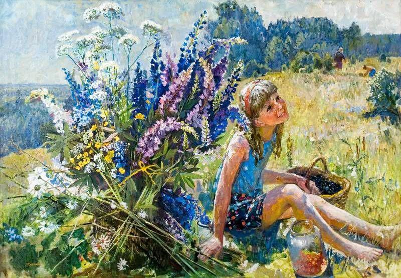 Художница Инесса Сафронова: деревенские мотивы в пейзажах, натюрмортах, портретах