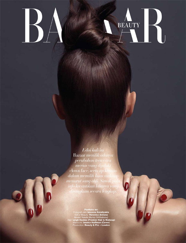 Fashion photographer Iakovos Kalaitzakis captures New Look beauty story for Harper's Bazaar Indonesi
