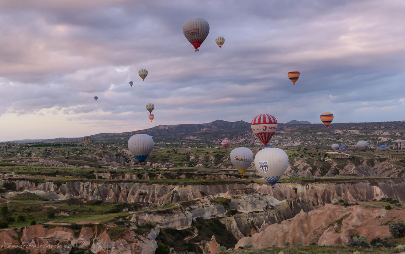Фотография 10. Воздушные шары в небе над Каппадокией. Отзывы туристов об экскурсиях в Турции. 1/60, 8.0, 800, 40.