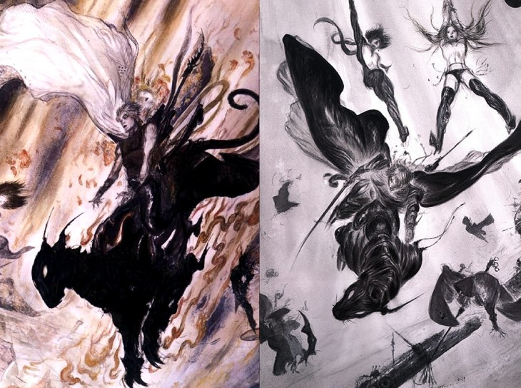 The iconic fantasy characters of Yoshitaka Amano take us back in time through pop art history