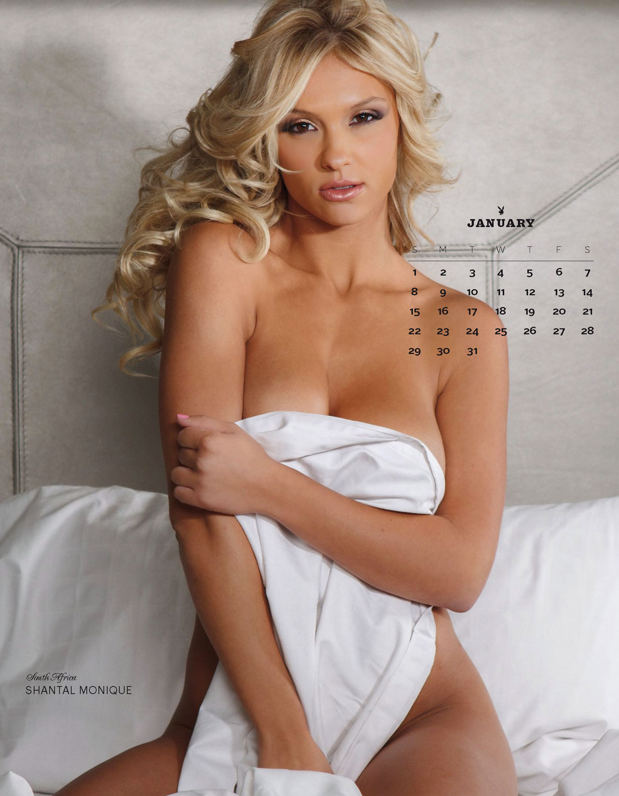 Playboy USA 2017 Official Calendar - Playmates Around the World - Shantal Monique | South Africa