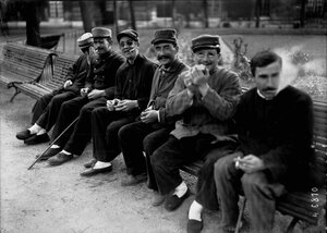 1916. Приют для слепых Кенз-Вэн («Триста»). Ослепшие солдаты