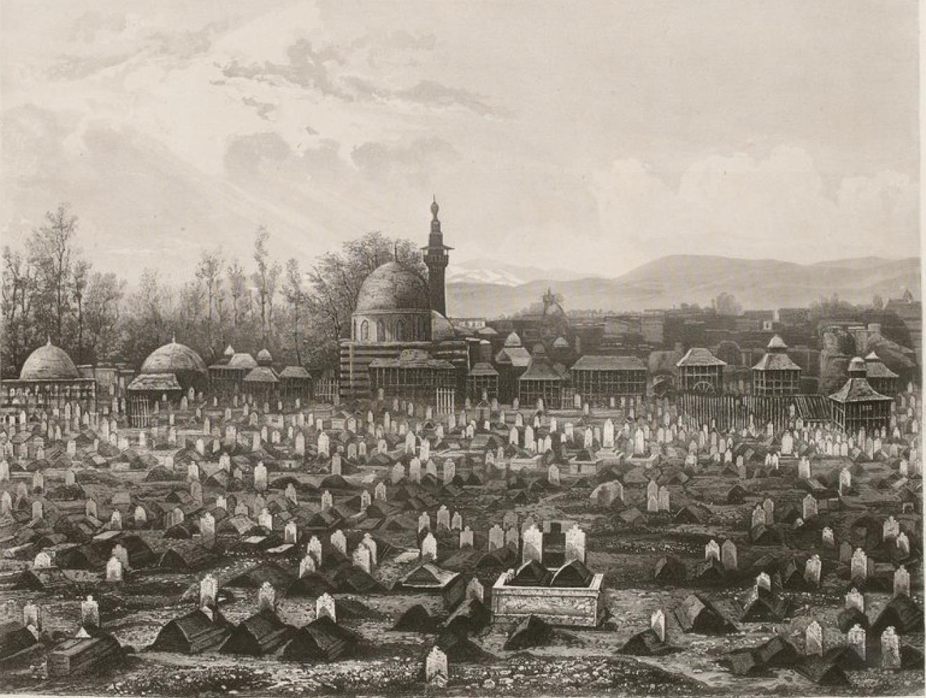 Сирия. Мусульманское кладбище в Дамаске