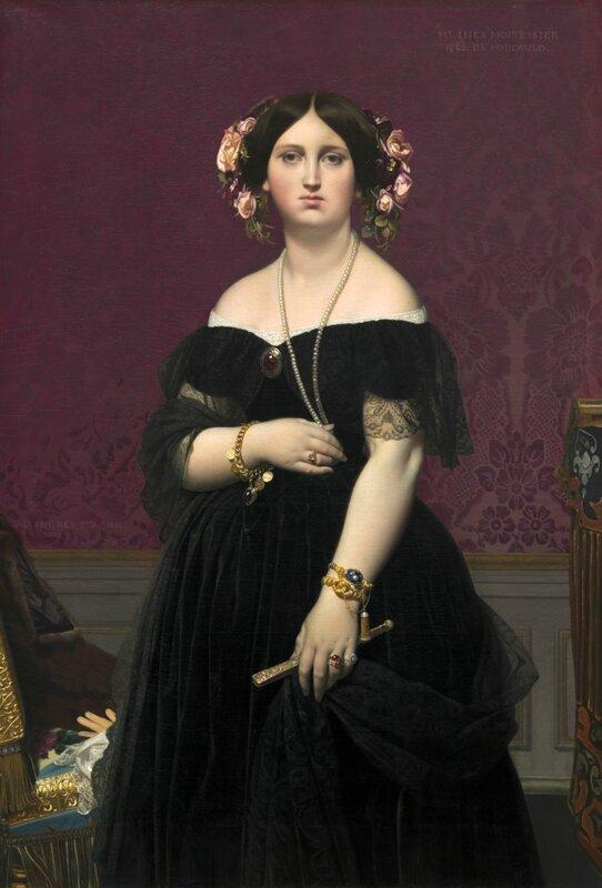 Мадам Муатессье Национальная галерея искусств, Вашингтон 1851. 147x100