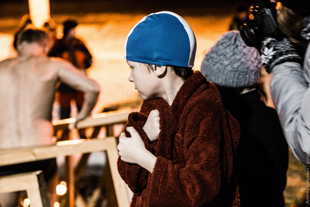 Крещение в Колонистском пруду Пушкине 2016