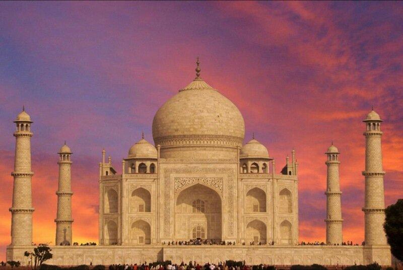 Фотографии жемчужины Индии древней усыпальницы Тадж Махал