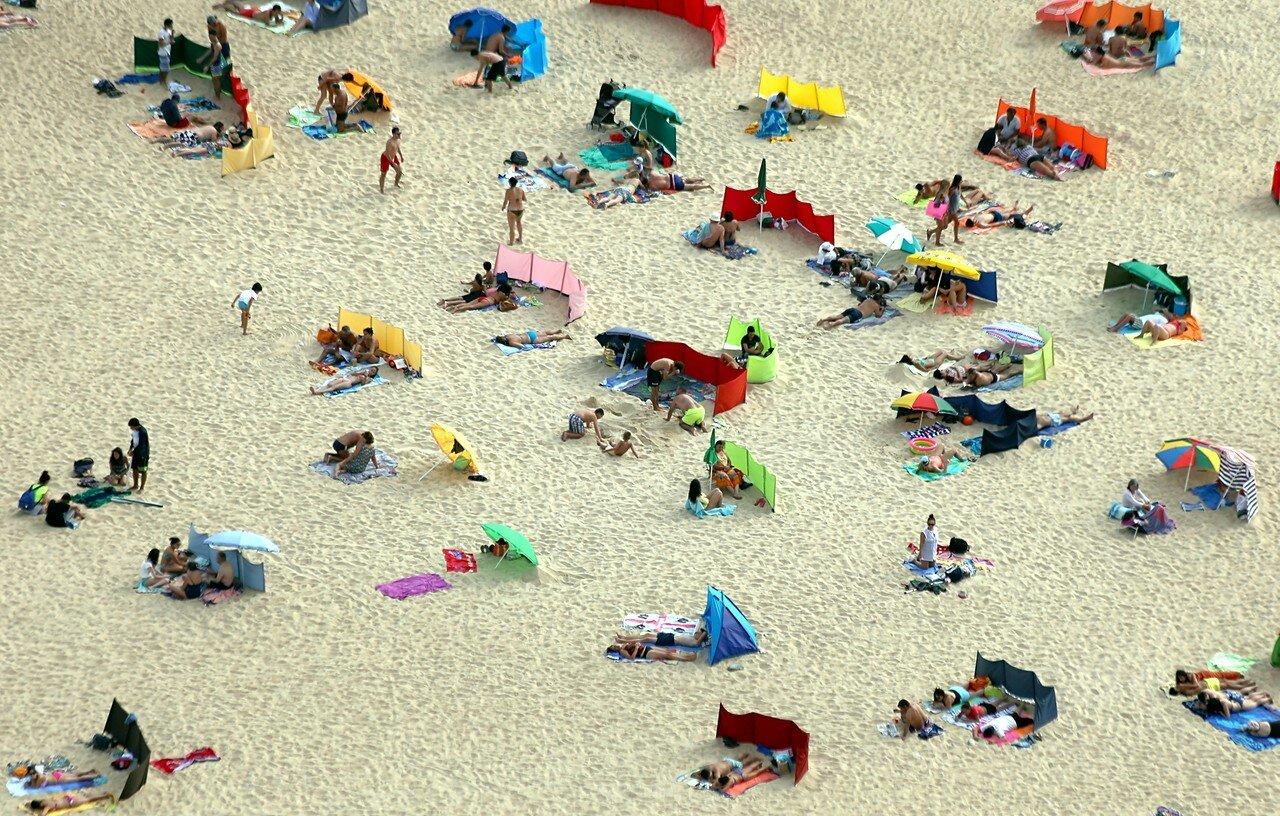 Назаре. Пляж