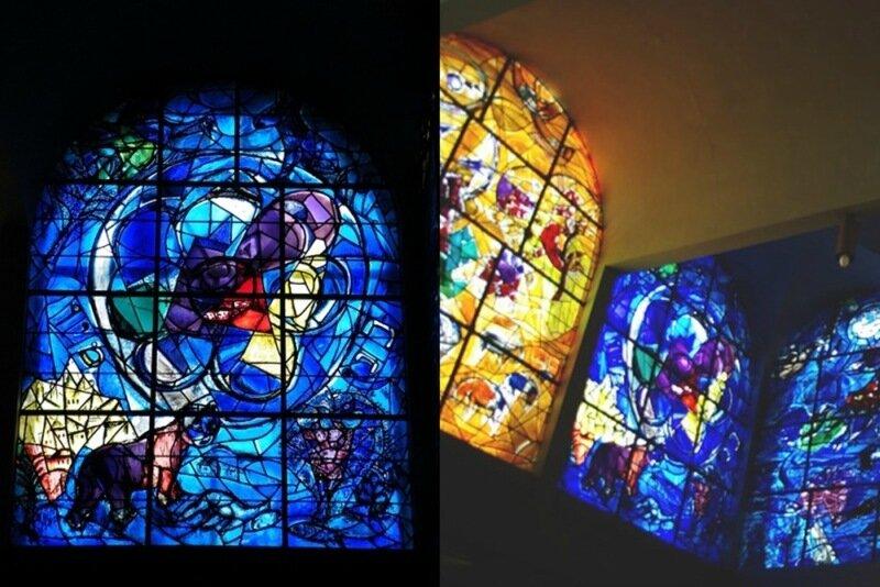 Красивые старинные и современные витражи, созданные Марком Шагалом и другими известными художниками