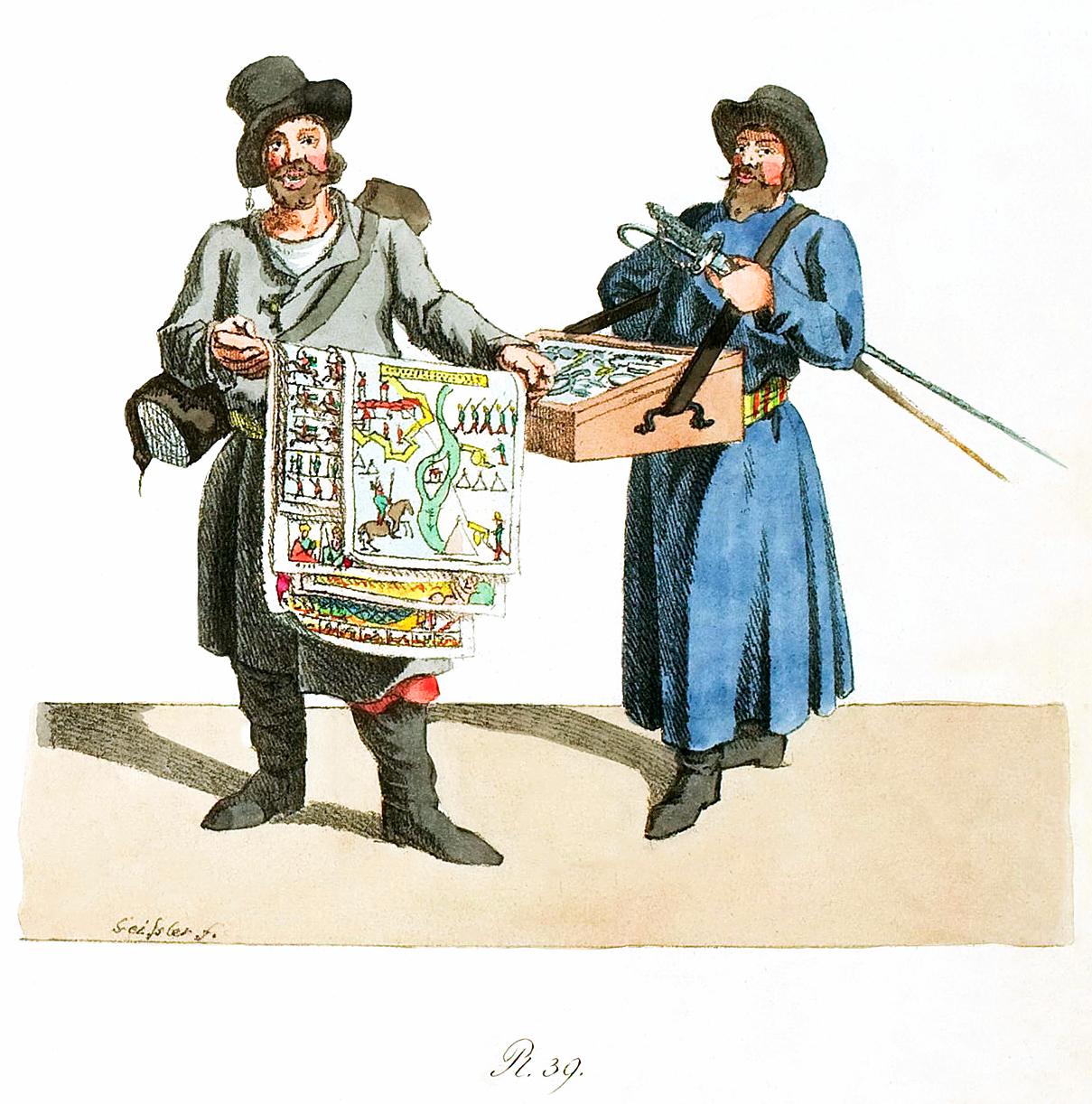 39. Bildermanns und eines Kaufmannes mit Stahlwaren / �������� ������� � �������� ���������