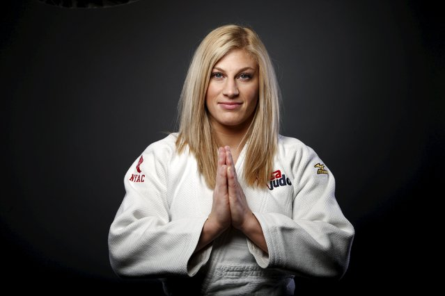 Judo competitor Kayla Harrison poses for a portrait at the U.S. Olympic Committee Media Summit in Be