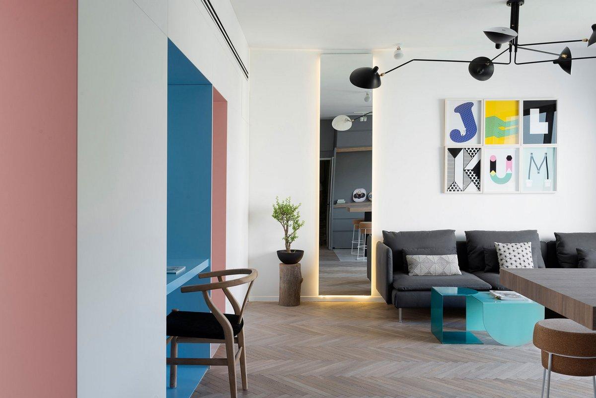 Яркий дизайн интерьера квартиры