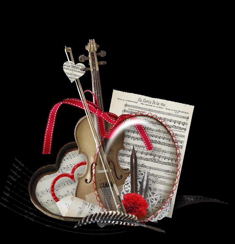 Открытки с муз.инструментами
