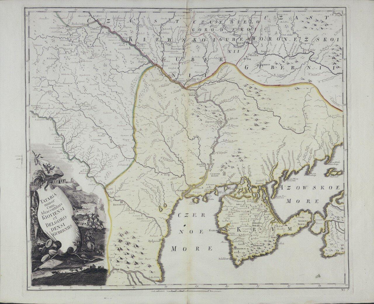 1745. Карта Малой Тартарии