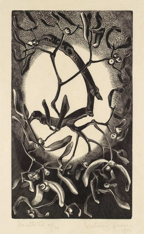 Mistletoe 1930 by Gertrude Hermes 1901-1983