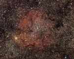 Газовая туманность IC1396 в созвездии Цефея.