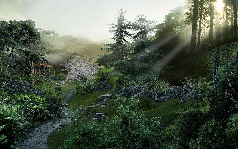 Красивые китайские пейзажи. Фотографии природы Китая, похожей на картины 0 1c4d4f 55f1b7bc XL