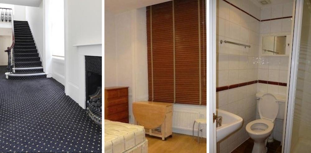Место: Кенсингтон-Хай-стрит. Квартира-студия с кроватью, кухней и туалетом. Есть безумно красивый хо