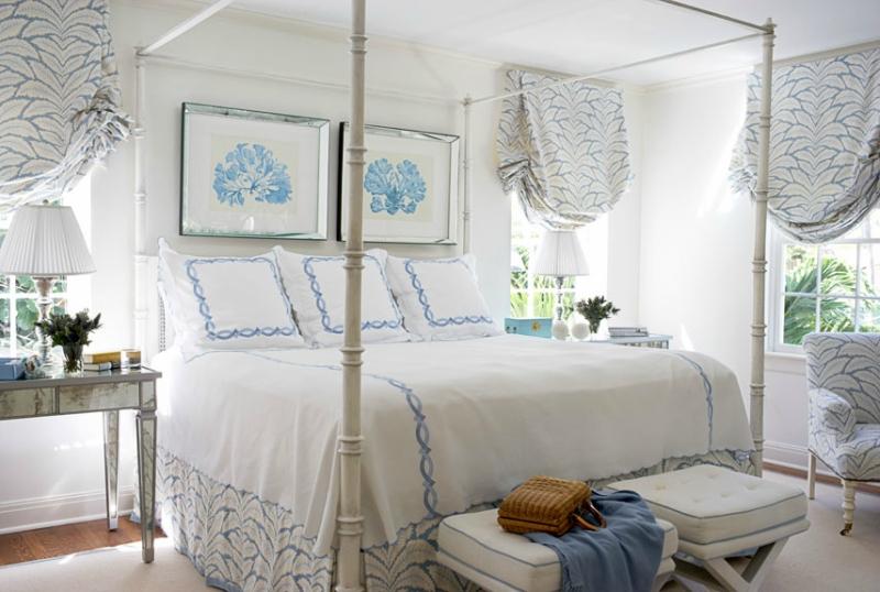 Дизайн интерьера спальни в светлых оттенках фото 1