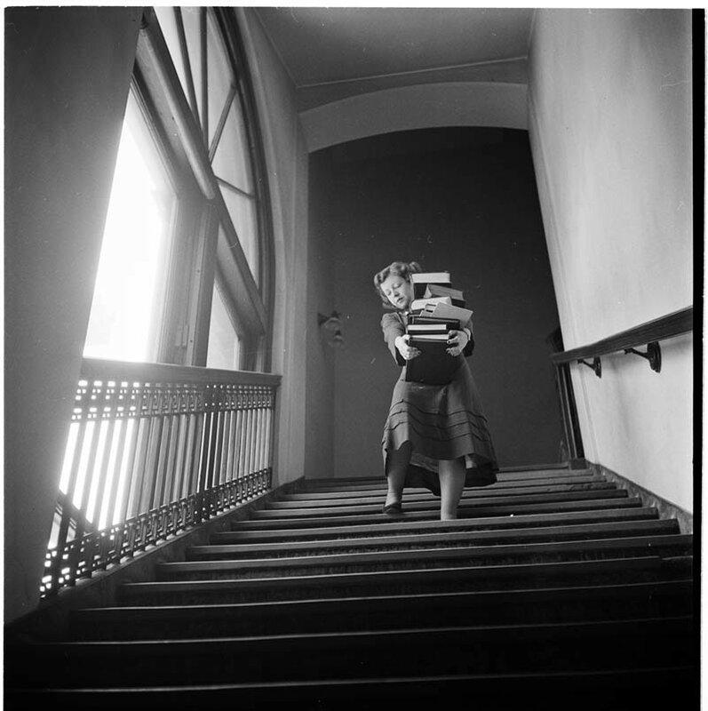 Студентка в Колумбийском университете, 1948 год