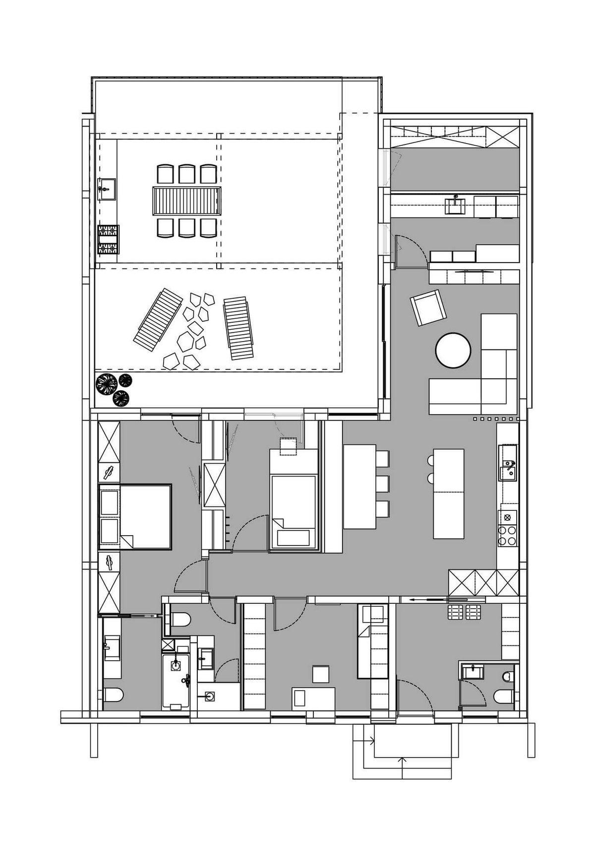 Любляна, Словения, GAO Architects, интерьер небольшого частного дома, частные дома в Словении фото, как живут в Словении фото, дизайн гостиной фото
