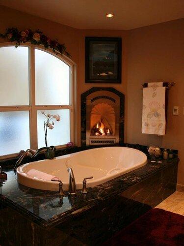 Горячая ванная у камина.Идеальное решение для холодных вечеров