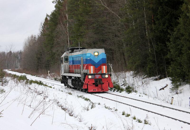 ТЭМ18ДМ-325, Перегон Белый городок - Калязин пост, участок Белый городок - 151 км