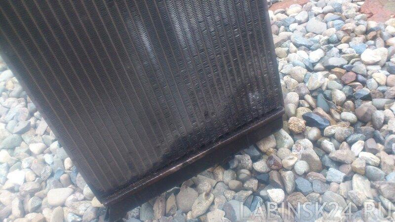 пробитый радиатор