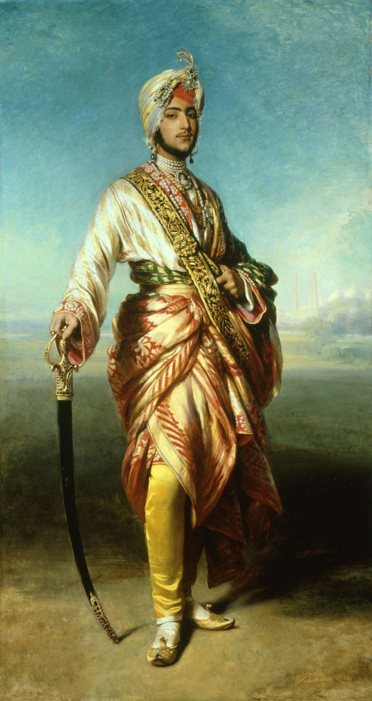 Махараджа Далип Сингх (1838-93)  Подпись и дата 1854