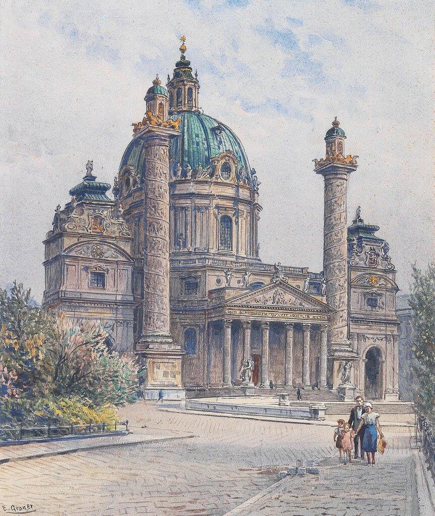 Ernst Graner(Werdau, Sachsen 1865-1943 Wien) Wien, die Karlskirche