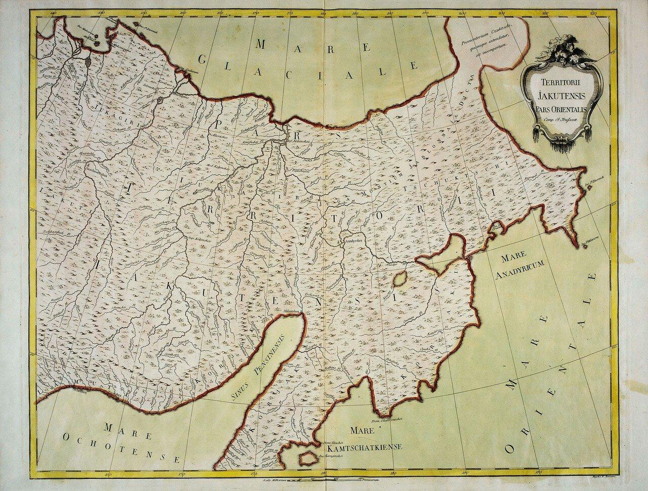 1750. Карта Якутских земель