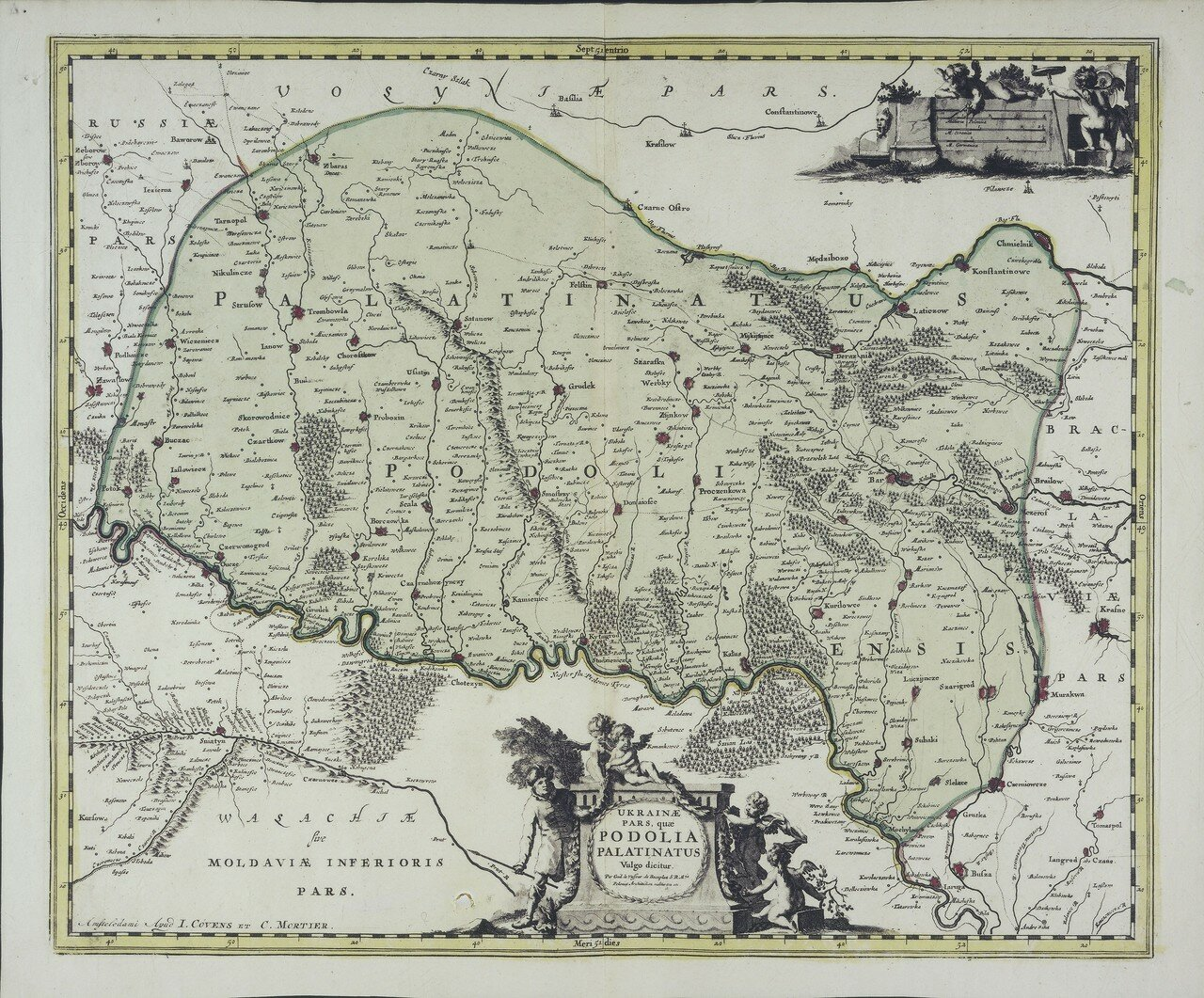1721. Карта Подолии