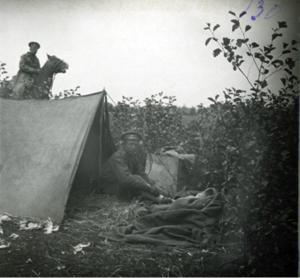 26. 1914. У палатки. Голишовец, Галиция