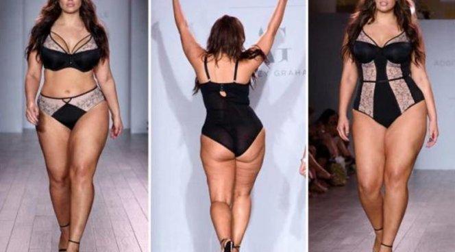Модель с целлюлитом поразила публику на Неделе высокой моды