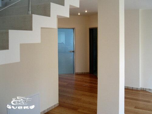 015. лестница с обраткой, стеклянные двери