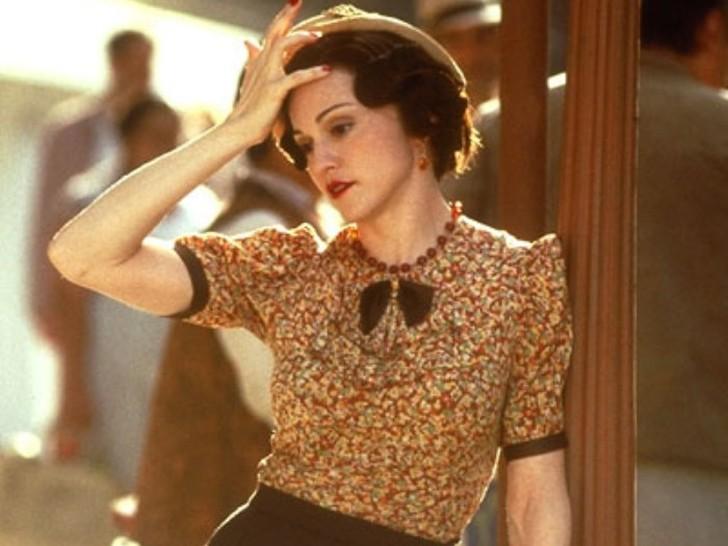 Мадонна в фильме «Эвита», 1996 Она мечтала о карьере киноактрисы, хотя не обладала ни выдающимися сп